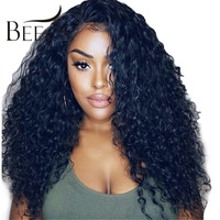 Beeos 13*4 Curly Wig Brazilian Lace Front Human Hair Wigs With Baby Hair 150% Lace Front Wig Remy Hair PrePlucked Bleached Knots
