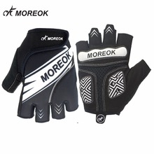 цена на MOREOK Summer Men Women's Cycling Gloves Half Finger with Gel Pad Shockproof MTB BMX Road Bike Bicycle Gloves Guantes Ciclismo