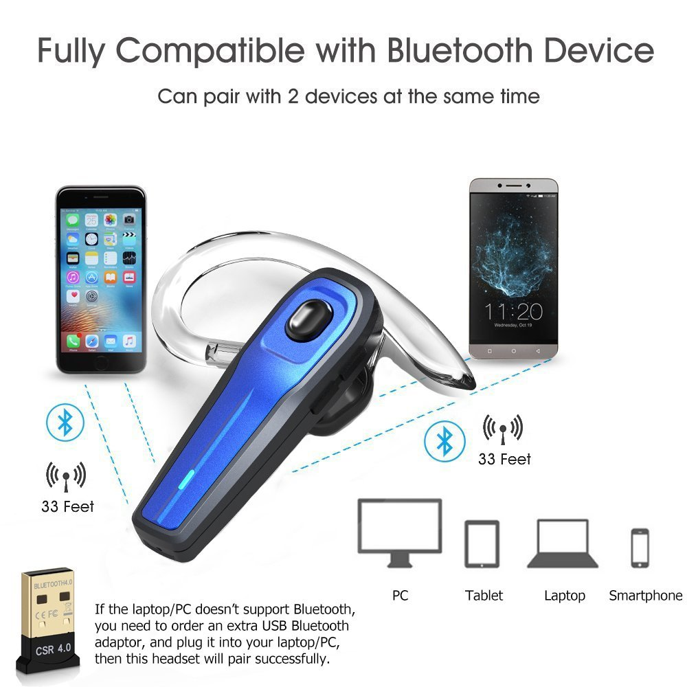 Wireless Bluetooth Headset with Mute Switch earphone Noise Reduction  Microphone Portable Headphone-in Bluetooth Earphones & Headphones from  Consumer ...