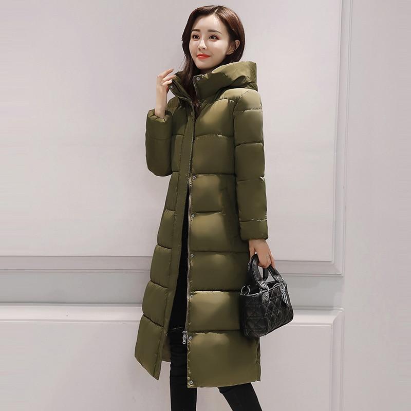 Winter-Baumwollkleidung 2019 neue Frauen Größe einfarbig Verdickung - Damenbekleidung - Foto 4
