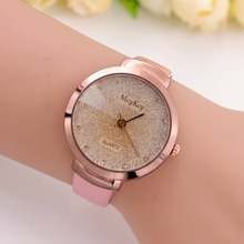 New Fashion Rhinestone Dress Women Watches Women Leather Band Luxury Bracelet Small Dial Gold Rose Wristwatch Horloge Dames 2017