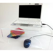Proste zaprojektowany przezroczysty akryl miejsce stoły kryształ lucite monitor stół komputera stoły meble do salonu akryl wyposażenie tanie tanio Stolik Meble do domu ONE LUX 40w*30d*12h cm Nowoczesne 21309102 acrylic