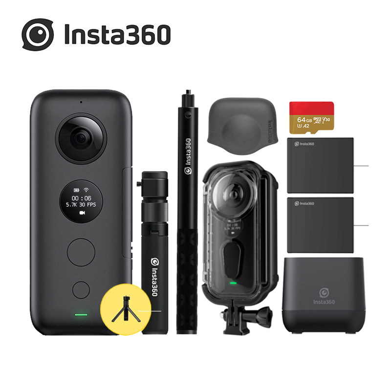 Insta360 ONE X 5 7K 18MP Sport Action Camera For iPhone Android Insta 360 Battery Charger Bullet Time Invisible Selfie Stick in Sports Action Video Camera from Consumer Electronics