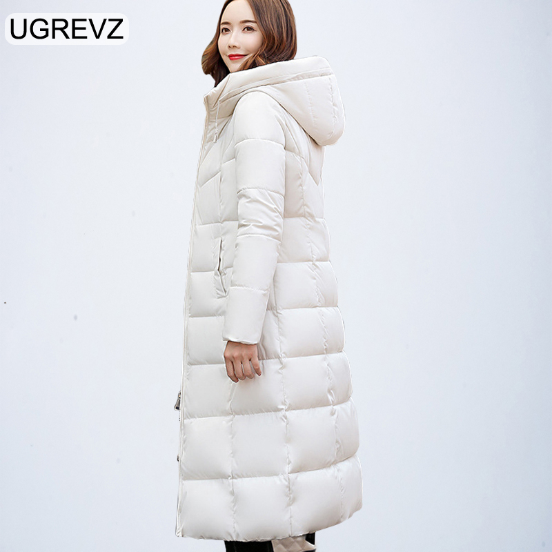 2018 New Women Padded Jacket Winter Long Sleeve Hooede Thick Causal Long Quilted Coat Feminino Plus Size Solid Slim Parkas XXXL