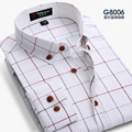Men  Plaid Shirt 100% Cotton 2016 Spring Autumn Casual Long Sleeve Shirt Soft Comfort Slim Fit Styles Brand Man Clothes plus siz