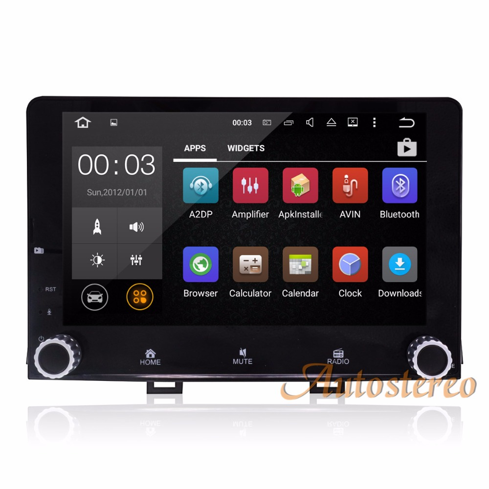 Newest Android 8.0 Octa Core Car No DVD Player for KIA RIO 2017 2018 Car GPS Navigation St