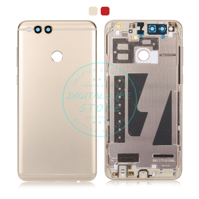cheap for discount 0cf7b bfd25 US $13.99 |For Huawei Honor 7X Battery Back Cover for Rear Door Housing for  Honor 7X Replacement Repair Spare Parts + Power Volume Button-in Mobile ...