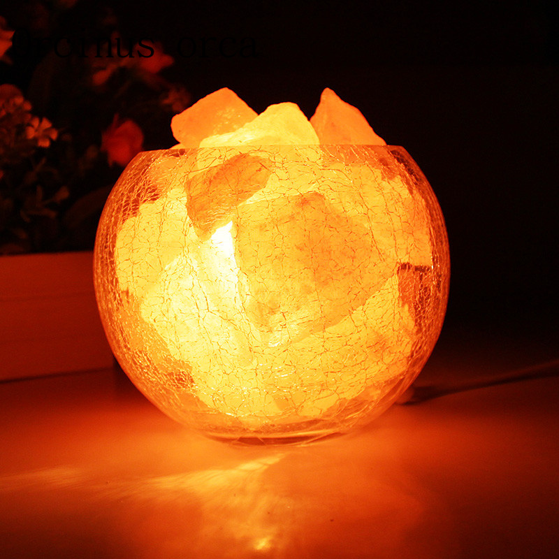 Crystal salt lamp Himalaya European style decorative small table lamp creative fashion bedroom warm wedding bedside lamp oygroup mini hand carved natural crystal himalayan salt lamp night light cylinder shaped illumilite lamp salt light oy17nl02