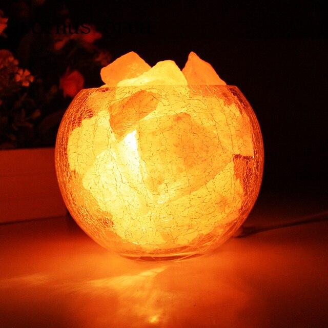 Crystal Salt Lamp Himalaya European Style Decorative Small Table Lamp  Creative Fashion Bedroom Warm Wedding Bedside
