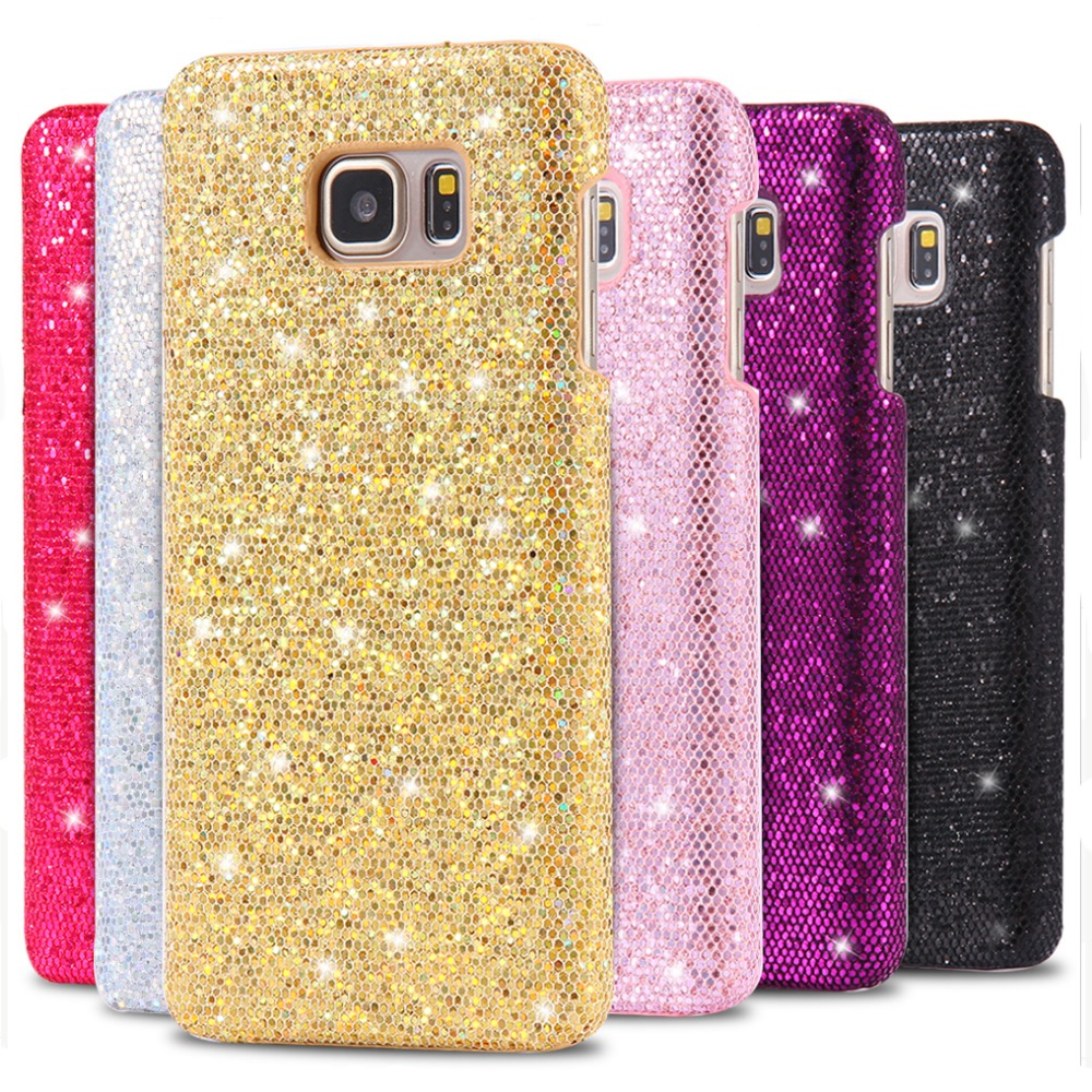 Bling Glitter Cute Aluminium Phone Case for Samsung S6