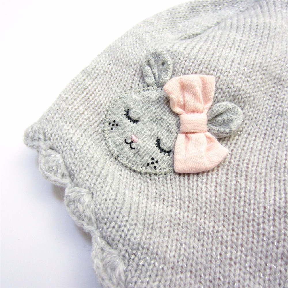 f69a2a909ea Cute Puffer Ball Baby Hat Soft Cotton Newborn Baby Beanie Double Layer Warm  Winter Hat For Baby Girls Boys Knitted Kids Hats Tags