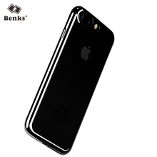 Benks Electroplating Edge Anti-drop Clear Transparent Cases for iPhone 7 / 7plus Smartphone Durable Soft Covers for iPhone7 Plus