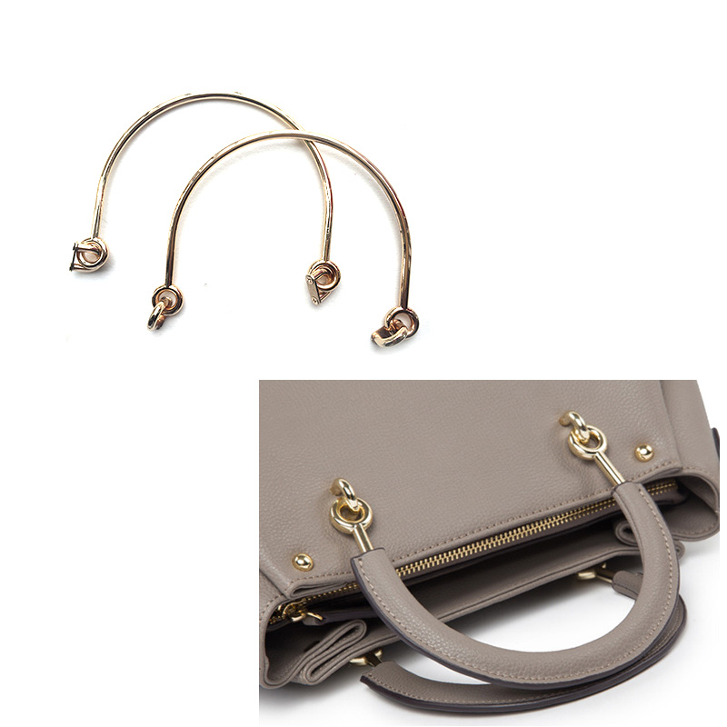 2PC Alloy Bag Handle For Handcrafted Handbag Shoulder Bags Part Handbags Parts DIY Accessories 6 Inch