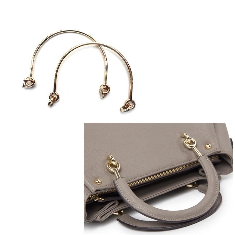 2PC Alloy Bag Handle For Handcrafted Handbag Shoulder Bags Part Handbags Parts DIY Accessories 6 Inch