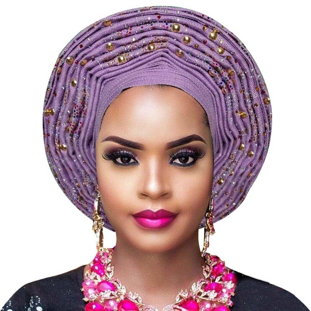 Aso oke gele african headtie nigerian headtie auto gele women headwrap lady wedding turban (5)