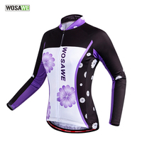 WOSAWE 2016 New Design for pro team womens long sleeve retro cycling jersey shirt women spring autumn mtb Top Clothing
