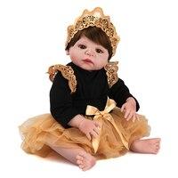 NPKDOLL Baby Reborn 55cm Realistic Reborn bebes de silicone Lifelike baby reborn silicone inteiro menina Baby Doll for girls lol