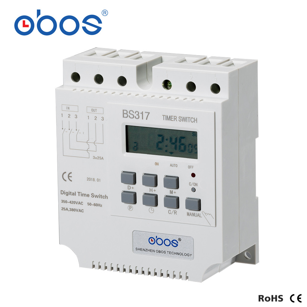 beautiful good quality good credit 380V 25A three phase timer switch electronic timer relay with 16 times on/off per day/weekly-in Timers from Tools