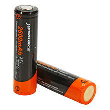 XCSOURCE 2 unids 3.7 V 18650 Batería de 2600 mAh Li-ion Recargable Para la Linterna LD650 +