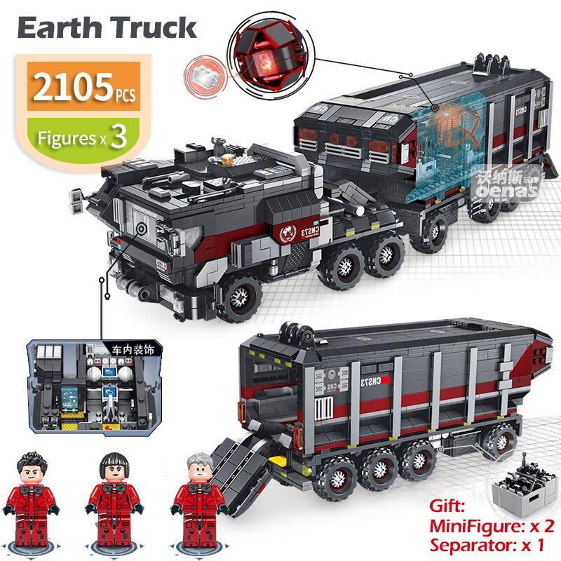 2105 個互換 Legoed 建設ビルディングブロックレンガ技術放浪地球トラック子供キットのおもちゃ子供のギフト  グループ上の おもちゃ & ホビー からの ブロック の中 1