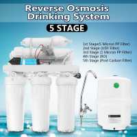 5 Drinking RO Reverse Osmosis System Water Filter Kitchen Purifier Water Filters Membrane System Filtration With Faucet
