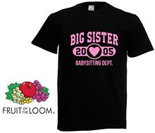 Big Sister Personlised Age T Shirt - Sis Gift Girls Kids Funny shirt Top New Shirts Tops Tee Unisex
