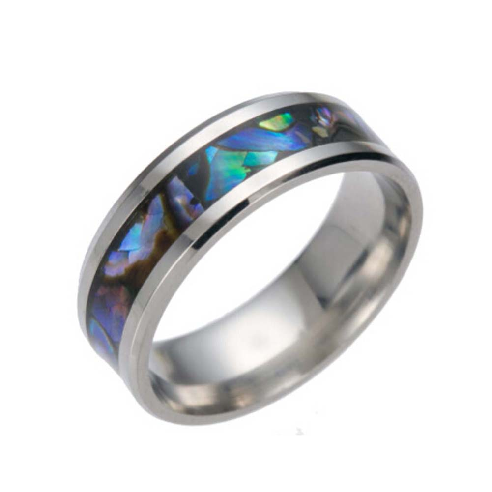 2017 comfort fit top quality tungsten carbide ring with abalone inlay mens wedding band male engagement ring - Exotic Wedding Rings