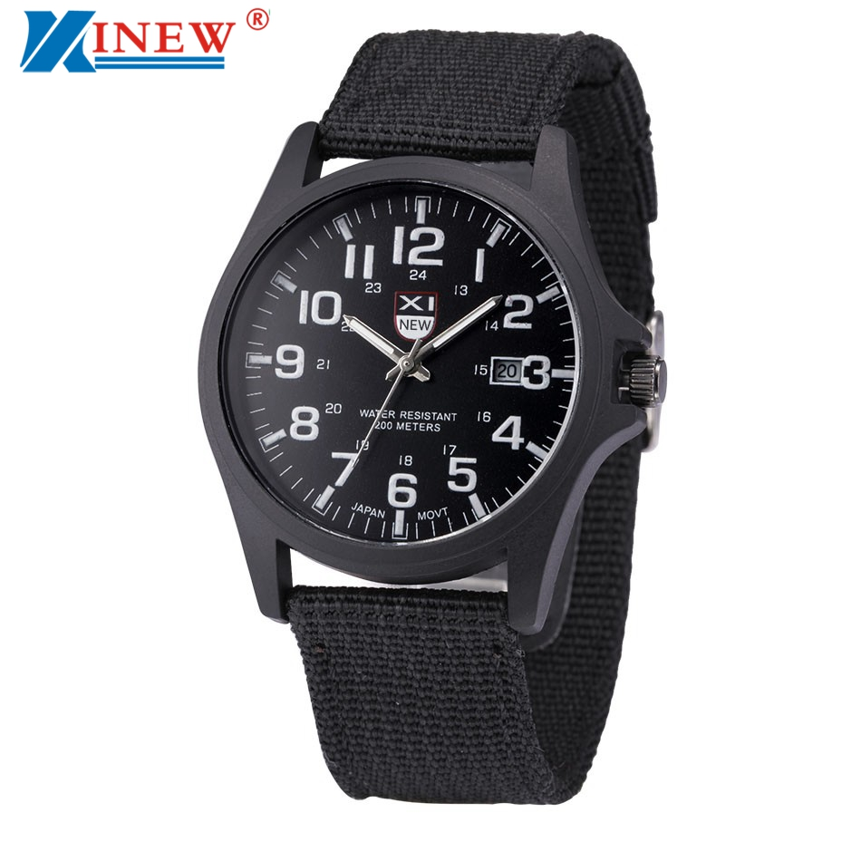 Xinew brand wrist watches men sports outdoor military watch mens luxury steel dial quartz watch for Outdoor watches