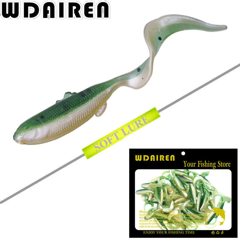 50Pcs/lot Volume Tail Soft baits Silicone bait 4.5cm 1g Artificiais soft lure Fishing Lure Fishing Tackle para iscas pesca WD254 fishing lure soft bait bugsy shad 2 8 swimbait iscas artificiais pesca 10pcs 7cm 2 5g silicone bait carp fishing tackles trout