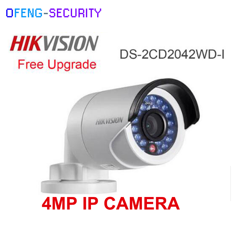New HIKVISION CCTV IP Camera DS-2CD2042WD-I 4MP Bullet Security IP Camera with POE Network camera Security Cameras Surveillance hikvision ip camera 4mp bullet security camera with poe network camera ds 2cd2042wd i video surveillance 4pcs lot dhl shipping