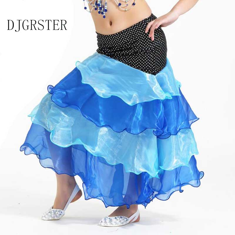 DJGRSTER <font><b>Indian</b></font> <font><b>Sari</b></font> Girls Dress Orientale Enfant <font><b>Indian</b></font> Costumes For <font><b>Kids</b></font> Oriental Dance Costumes Belly Dance Dancer Skirt image