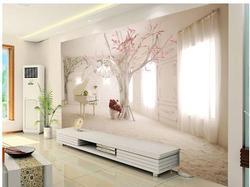 العرف صور خلفية كبيرة ثلاثية الأبعاد ستيريو رومانسية البيانو الخيال شجرة التلفزيون خلفية جدارية ورق جدران منزلية