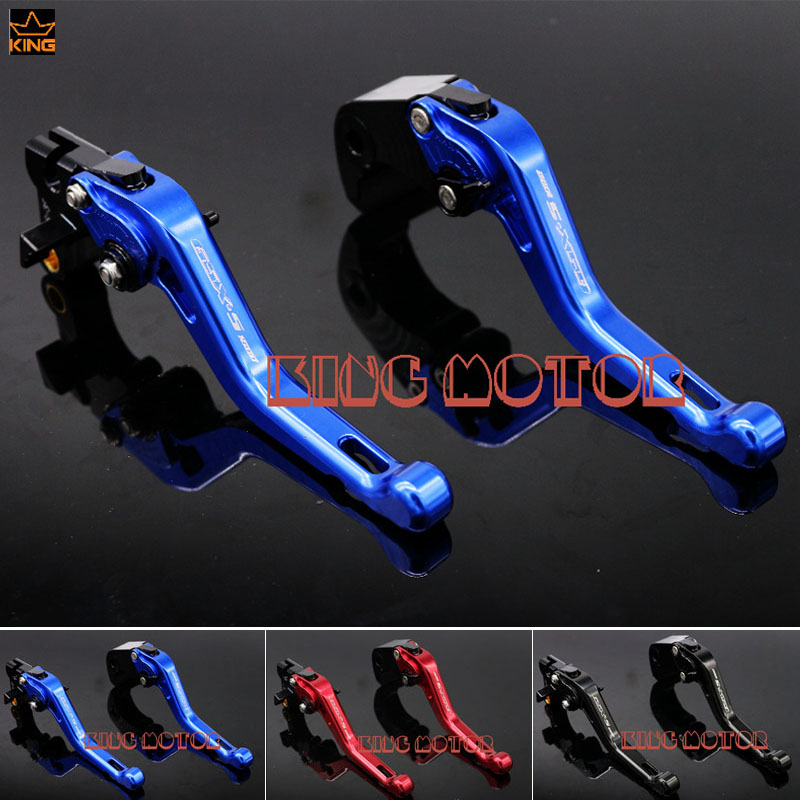 For SUZUKI GSX-S1000F GSX-S1000 GSXS1000 2015-2016 Motorcycle Accessories Short Brake Clutch Levers LOGO GSX-S1000 Blue for suzuki gsx s1000f gsx s1000 2015 2016 motorcycle accessories short brake clutch levers logo gsx s1000 blue