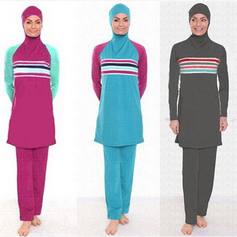 Swimming Suits For Women Long Sleeve Muslim Swimsuits Modest Suits Islamic Womens Beach  ...
