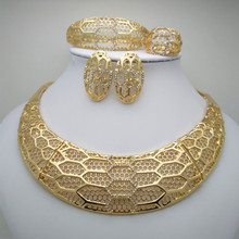 2019 Fashion Dubai Gold Color Jewelry Set Party Wedding Bridal Gift Nigerian Woman Wedding African Beads Jewelry Set Wholesale цена в Москве и Питере