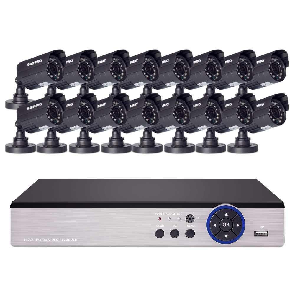 Kit 16x720 P AHD DVR 16x720 P 1200TVL caméra de sécurité vidéo intérieure extérieure 16 canaux système de vidéosurveillance de haute qualité nouveau
