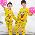 2015 New 2 pcs/set Kids Pajamas Sets Sleepwear Clothes for Boy Girl Long Sleeves Pyjamas Children's Set for 3-13y Free Shipping