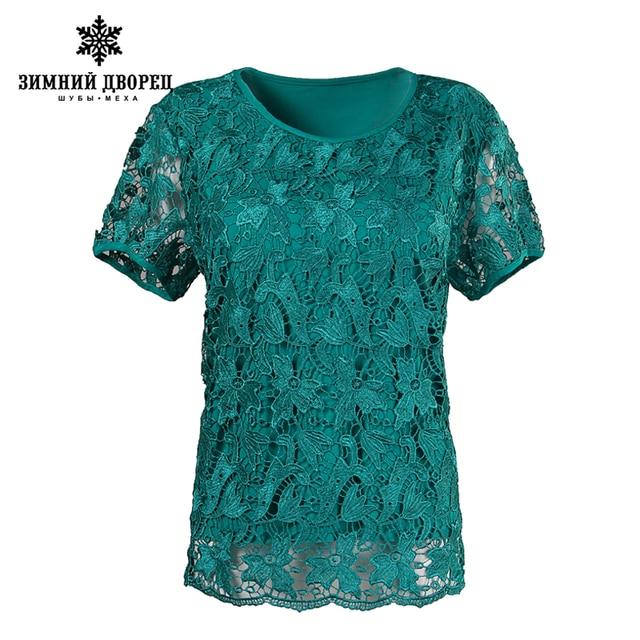 Кружева летние женские большие ярдов короткий рукав футболки стиль моды плюс удобрения топы эластичный хлопок футболки женщина