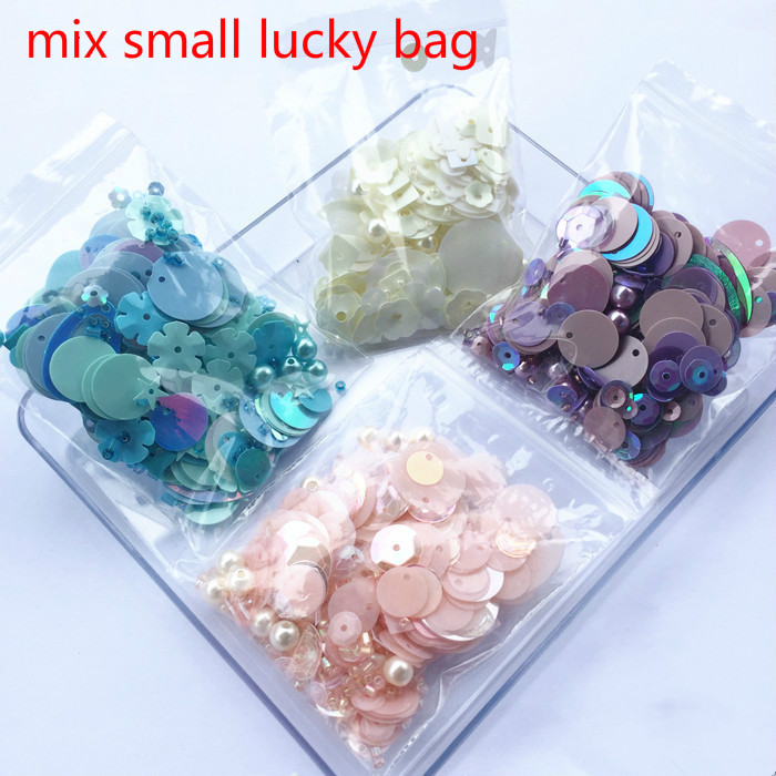 Qlcrystal 10g/bags mixed pearl beads flat round pvc loose sequins,sewing craft,glass seed beads