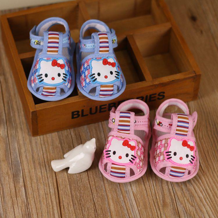 2 Видов прекрасный мультфильм лето Младенческой детская обувь, первые ходоки, малыша обувь, мягкой подошве Противоскользящие детская обувь, 0-14 М-Обувь