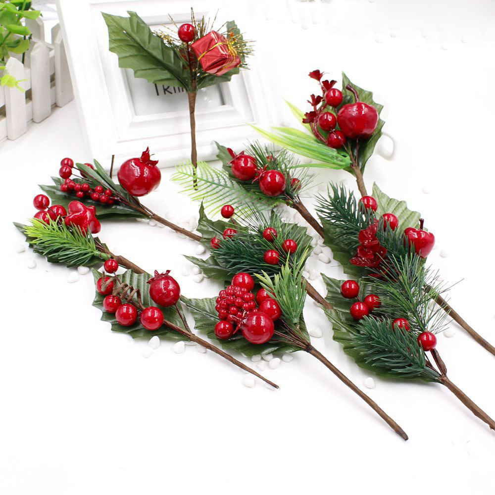 1 pcs artificial flower stamens pearl branches mixed berry for Artificial decoration