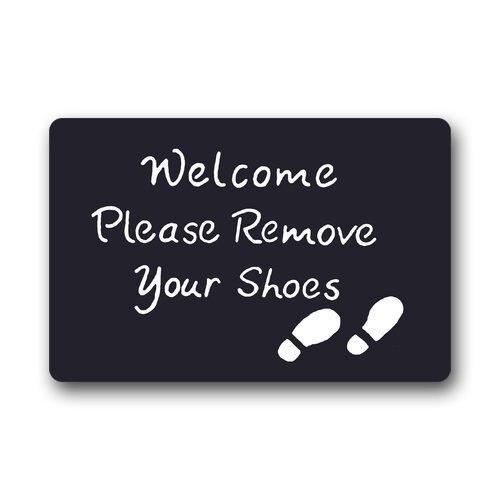 Future Origin Welcome Please Remove Your Shoes Doormat Indoor Outdoor Floor Mat