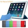 Магнитный Проснуться Кожаный Чехол для iPad Air Случае Сплит Смарт Случае для iPad Air Чехол Матовая Жесткий Назад Чехол для iPad 5 9.7 дюймовый