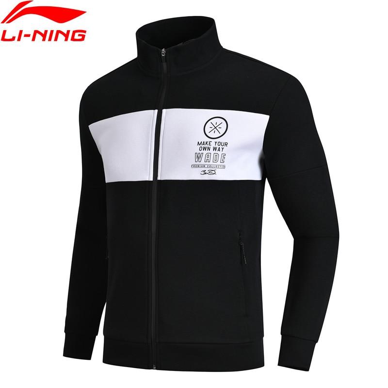 Li-Ning Men Wade Series Sweater Zipper Closure Regular Fit 66% Cotton 34% Polyester LiNing Comfort Sports Tops AWDN663 li ning men wade series hooded coats 71