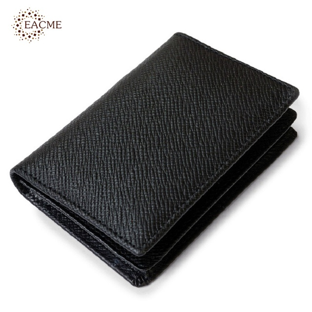 Wholesale real leather business card holder men mini card wallet wholesale real leather business card holder men mini card wallet credit card holder fold gentleman id colourmoves Images
