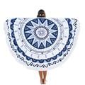 Woweile Durable bufanda toalla de Playa Ronda Hippie Mandala Tapiz Playa Tiro Roundie Toalla Estera de Yoga de la india Bohemio