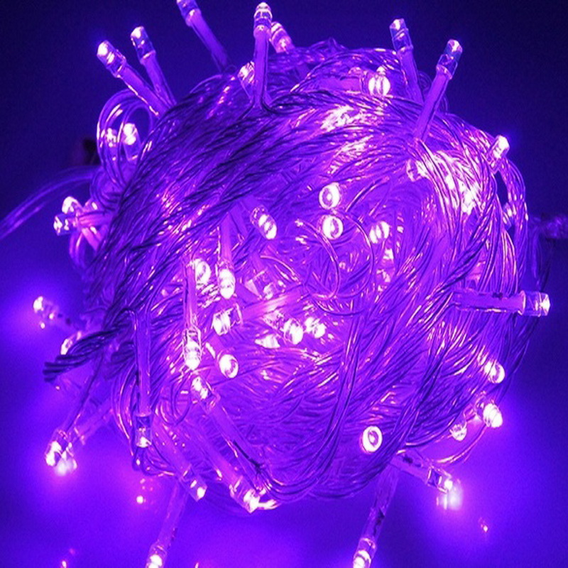 EU Plug 10M 100 LED String Light Outdoor Indoor Home Christmas Garden Wedding Garland Decoration Purple