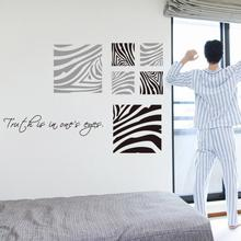 2015 New Design fashion art home decoration Zebra Pattern Wall sticker Creative removable Vinyl Cheap house decor decals creative home decoration girl s eyes design removable wall art sticker
