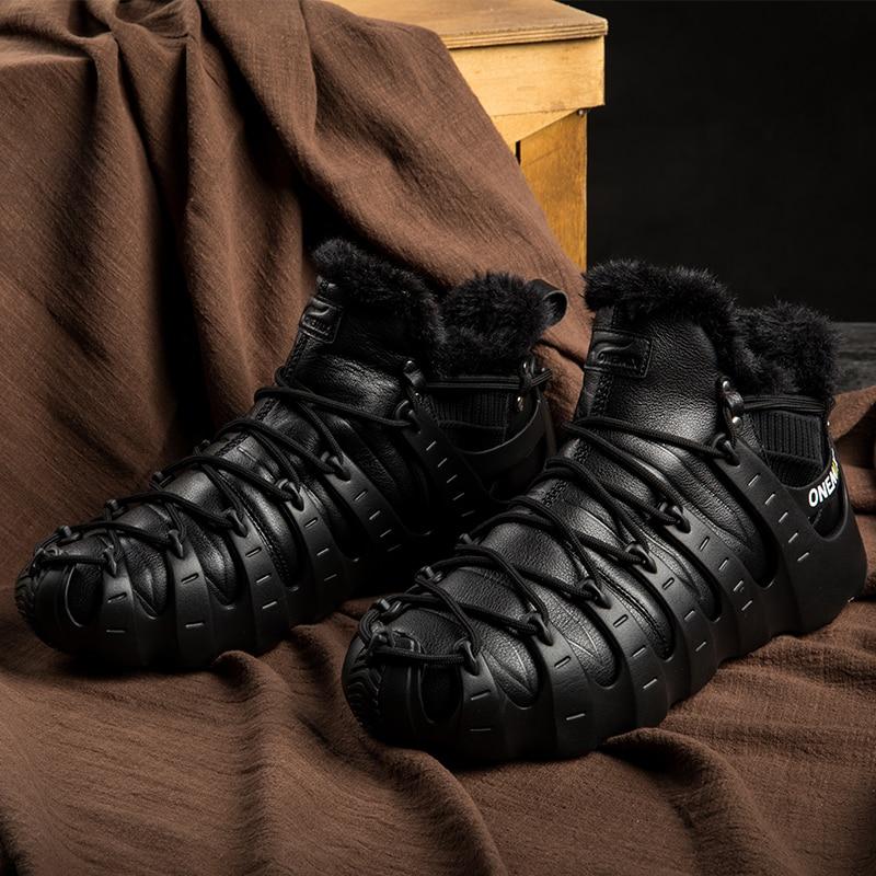 Купить с кэшбэком ONEMIX Winter Boots For Men Walking Shoes For Women Outdoor Trekking Shoe No Glue Sneakers Autumn Winter Warm Keeping Shoes
