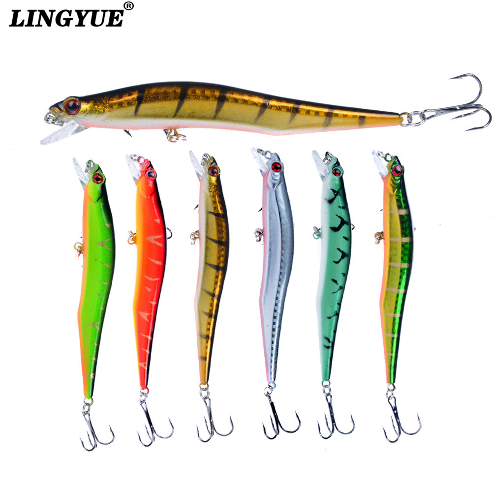 Hot Sale 1pcs 11.5cm/11g Minnow Fishing Lures 3D Eyes with 6# Hooks High Quality Crankbait Wobbler Fishing Tackle Wholesale. 1pcs 6 5 cm 11 8g top water fishing lures 3d eyes hard popper lure crankbait bass wobblers with 6 hooks fishing tackle